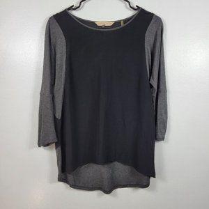 Rebecca Taylor Silk Sheer Vneck Long Sleeve Blouse